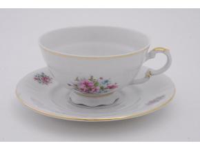 Sonáta, čajový šálek s podšálkem, kvítí, 200 ml, Leander
