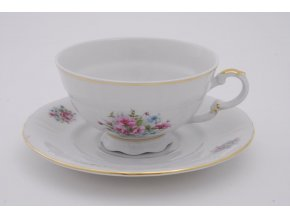 Sonáta, čajový šálek s podšálkem, kvítí