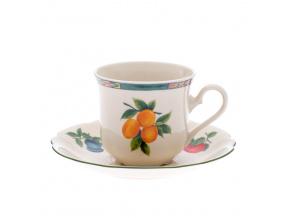 Mary-Anne, šálek čajový s podšálkem, ovoce, slon. kost