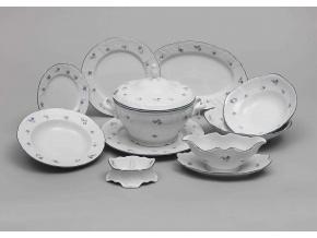 Bernadotte, jídelní souprava, modré růžičky, Thun