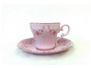 Ela, šálek s podšálkem, růžový