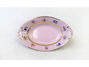 Miska oválná hluboká 17 cm, růžový porcelán