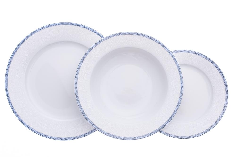 Talířová souprava, karlovarský porcelán Thun, Opal krajka, 18 dílná