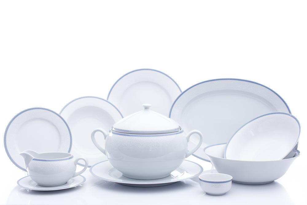 Jídelní souprava, karlovarský porcelán, Thun, Opal, krajka, 25 dílná