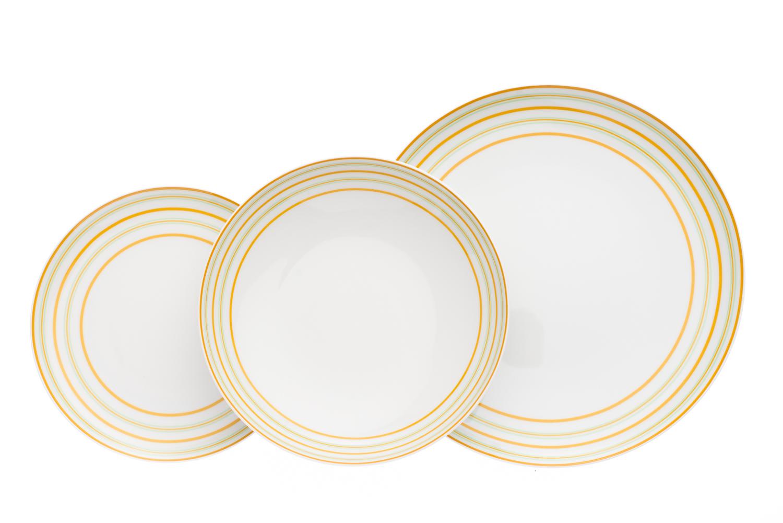 Talíře, moderní český porcelán, Thun, Tom, 18 dílná