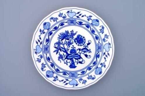 Cibulák, talíř mělký 26 cm, Český porcelán Dubí
