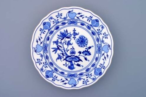 Cibulák, talíř mělký 21 cm, Český porcelán Dubí
