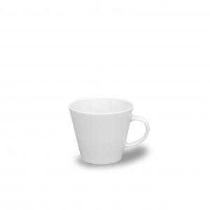 Šálek a podšálek bílý, 100 ml, český porcelán, Thun Tom