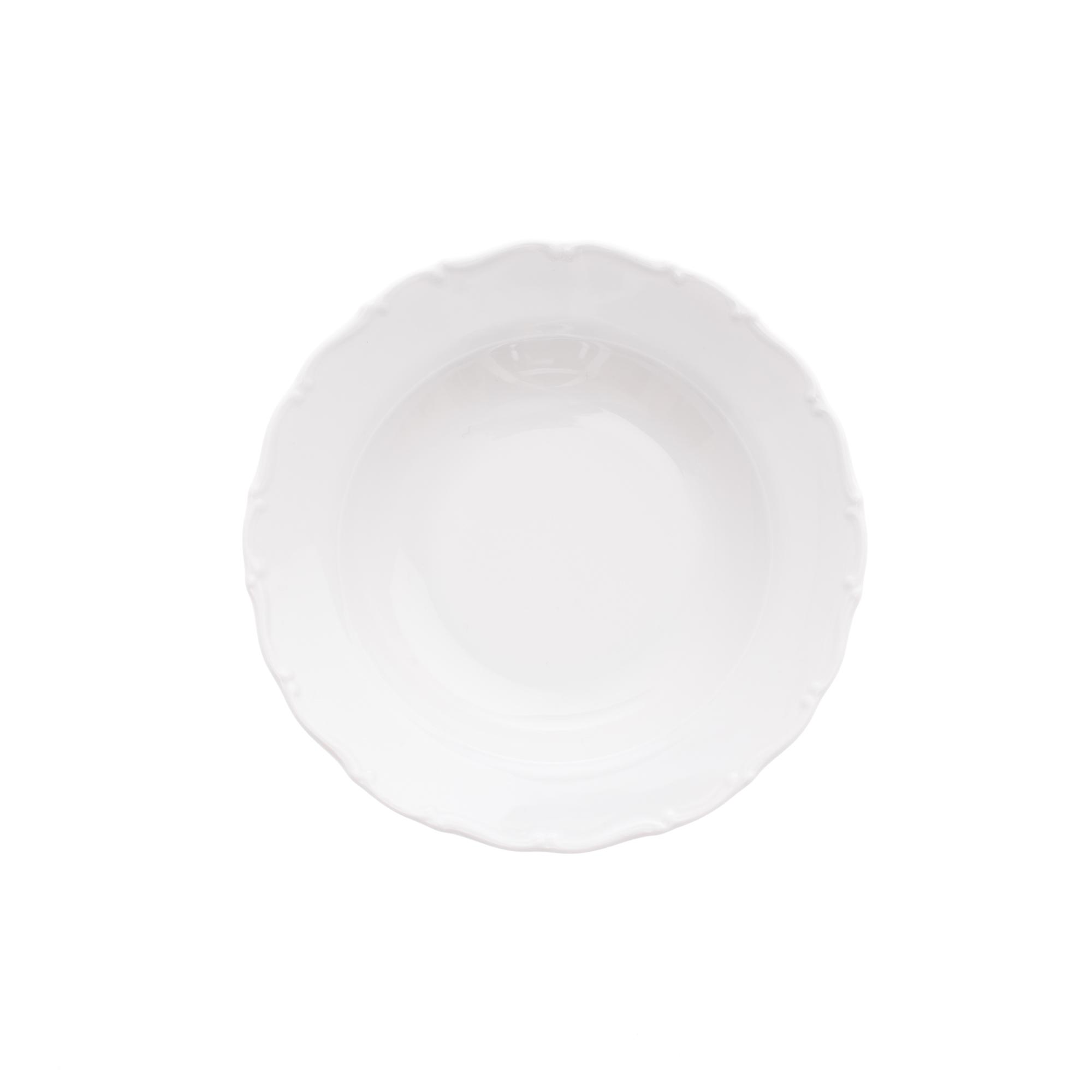 Talíř hluboký 23 cm, bílý porcelán, Ofélie, Stará Role