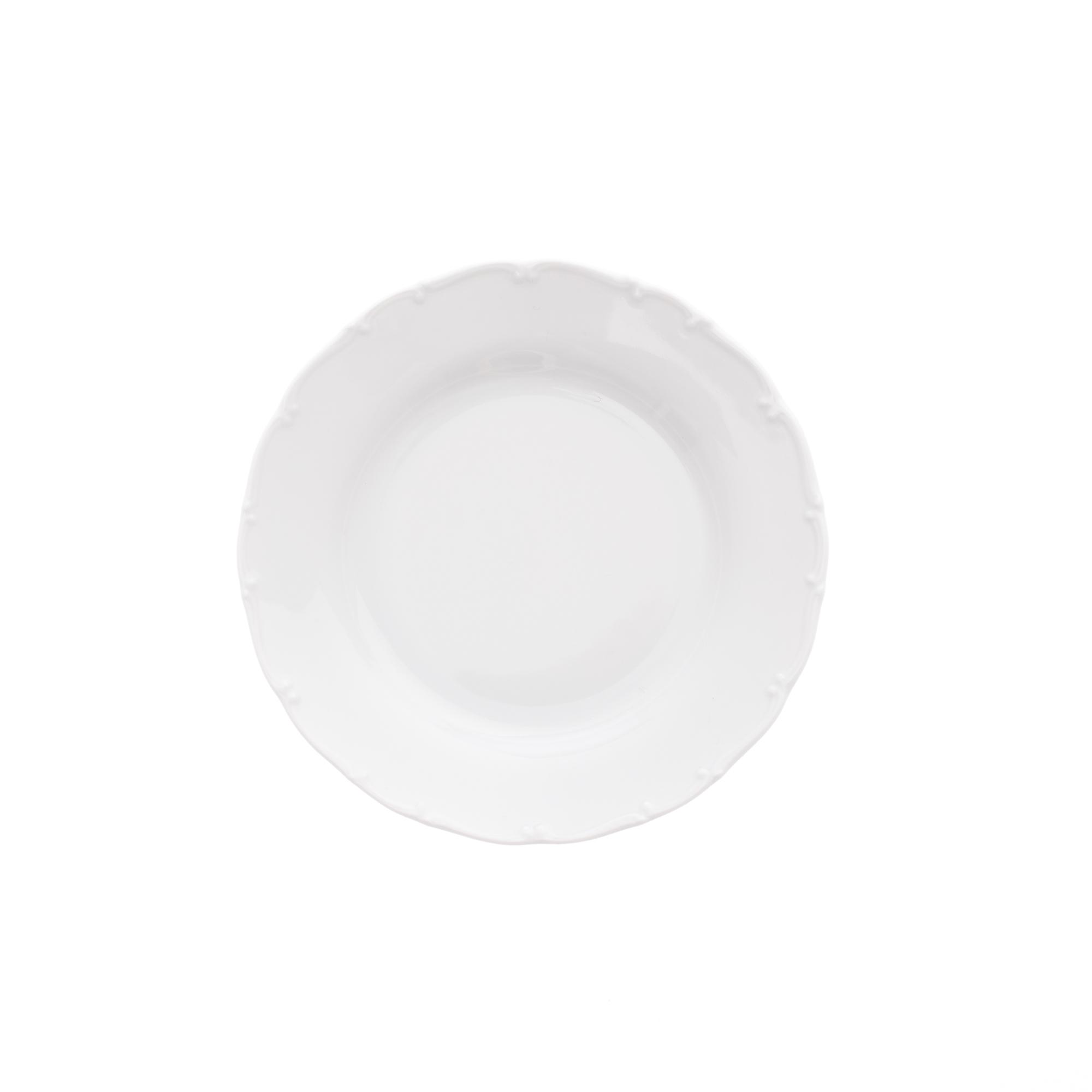 Talíř dezertní 19 cm, bílý porcelán, Ofélie, Stará Role