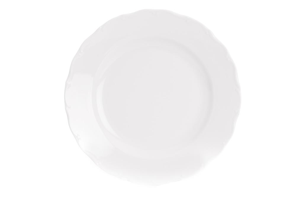 Mísa servírovací mělká 30 cm, bílý porcelán, Ofélie, Stará Role