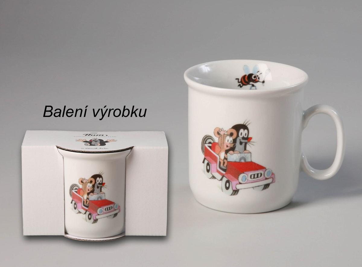 Krteček a autíčko, dětský hrnek 250 ml, český porcelán Thun 1794