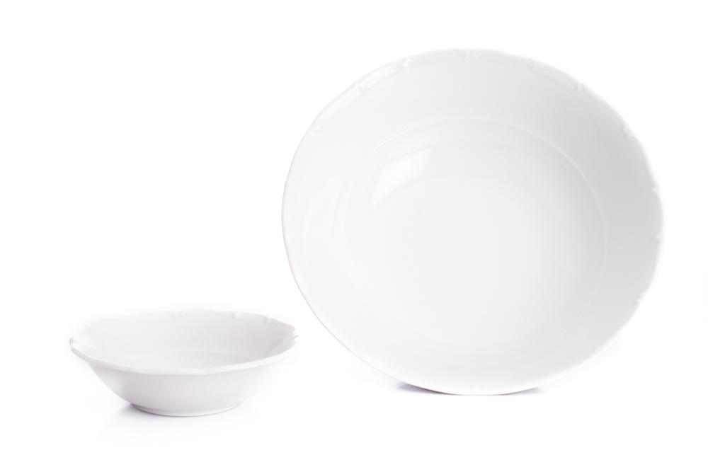 Ofélie, kompotová souprava, bílý porcelán, Stará Role, 7 dílná