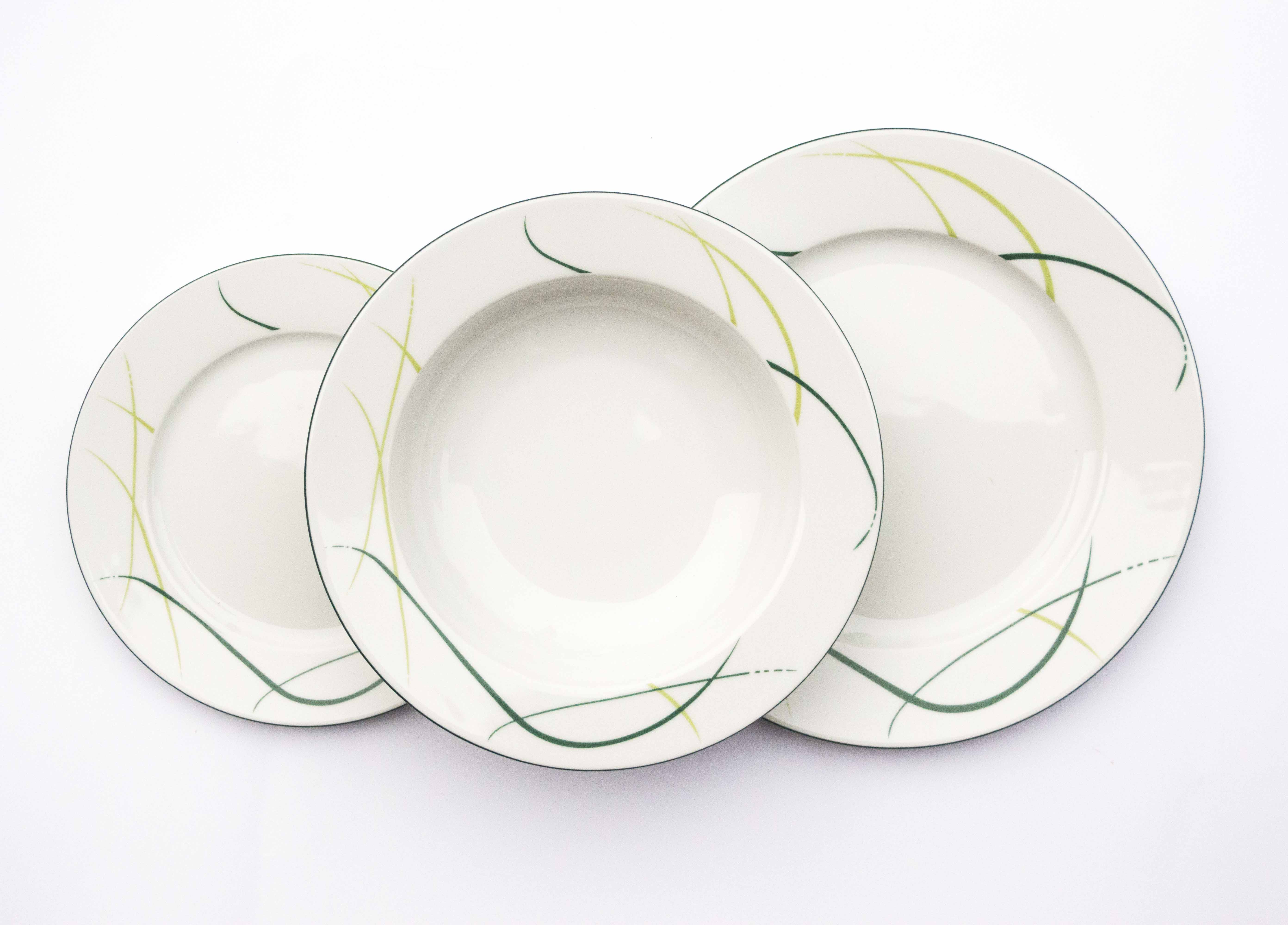 Karlovarský porcelán, sada talířů, Opal, Thun, 18 dílná