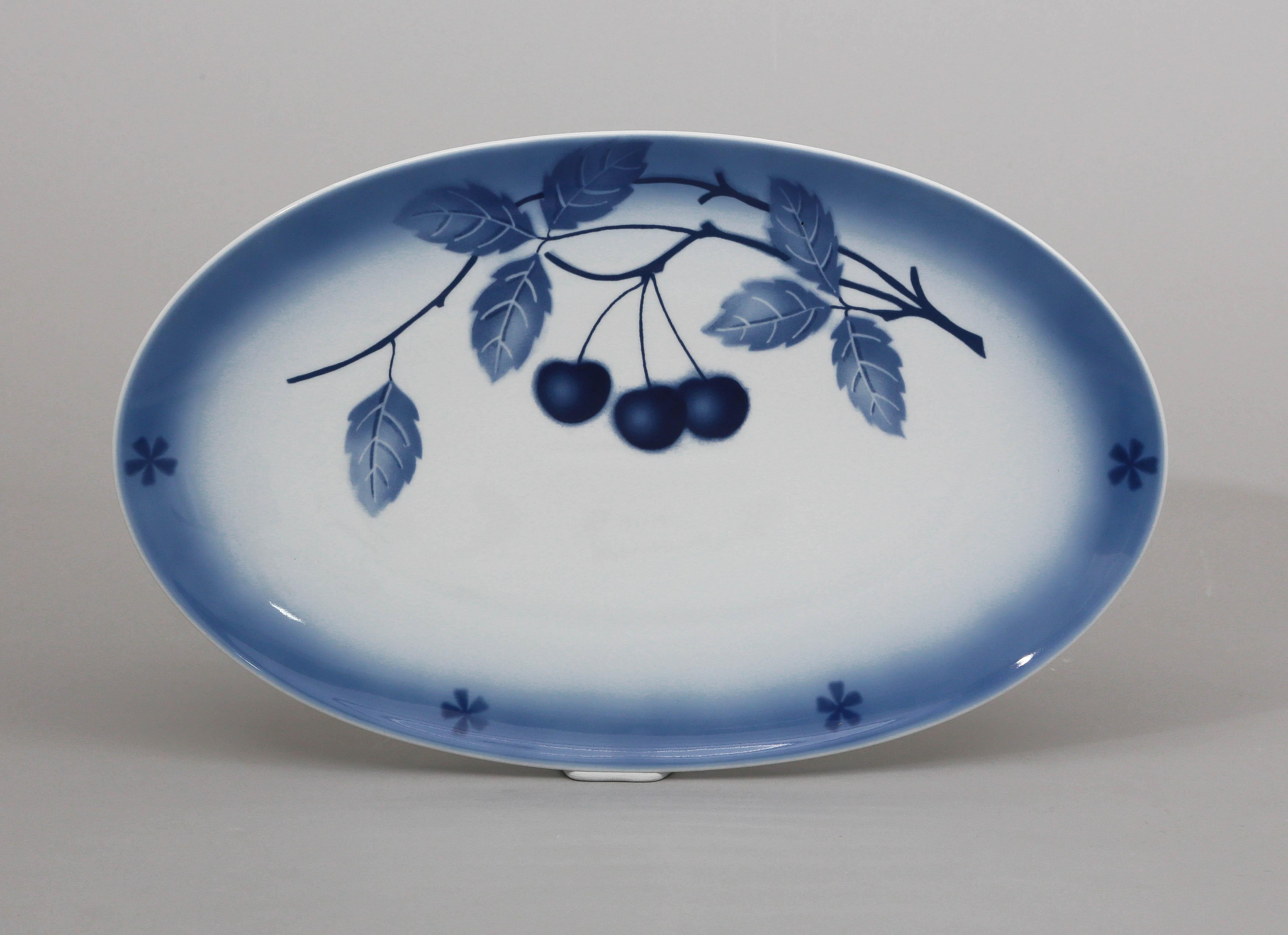 Mísa oválná, 41, blue cherry