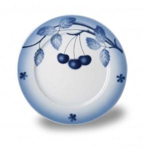 Nina, talíř desertní, 19 cm, blue cherry
