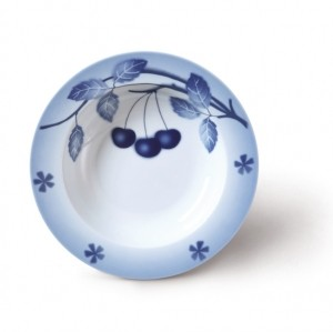Nina, talíř hluboký, 22 cm, blue cherry
