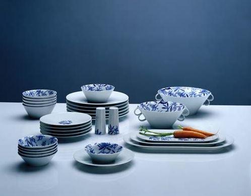 Bohemia Cobalt, jídelní souprava, Český porcelán Dubí, 31 dílná