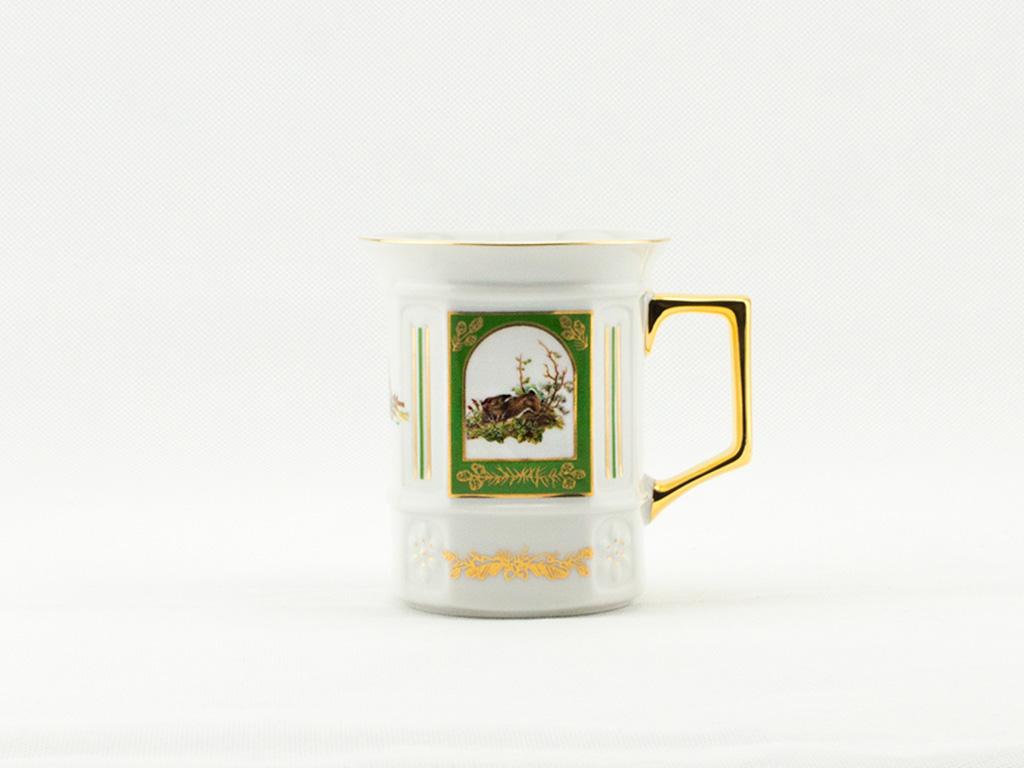 Hrnek hranatý 0,25 l, myslivecký porcelán, Leander