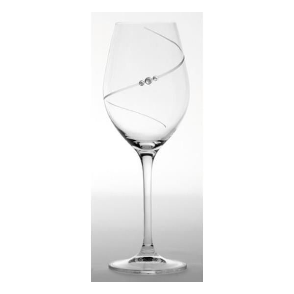 Swarovski, sklenice na víno, 470 ml, Diamante Silhouette, 2 ks, Dartington Crystal