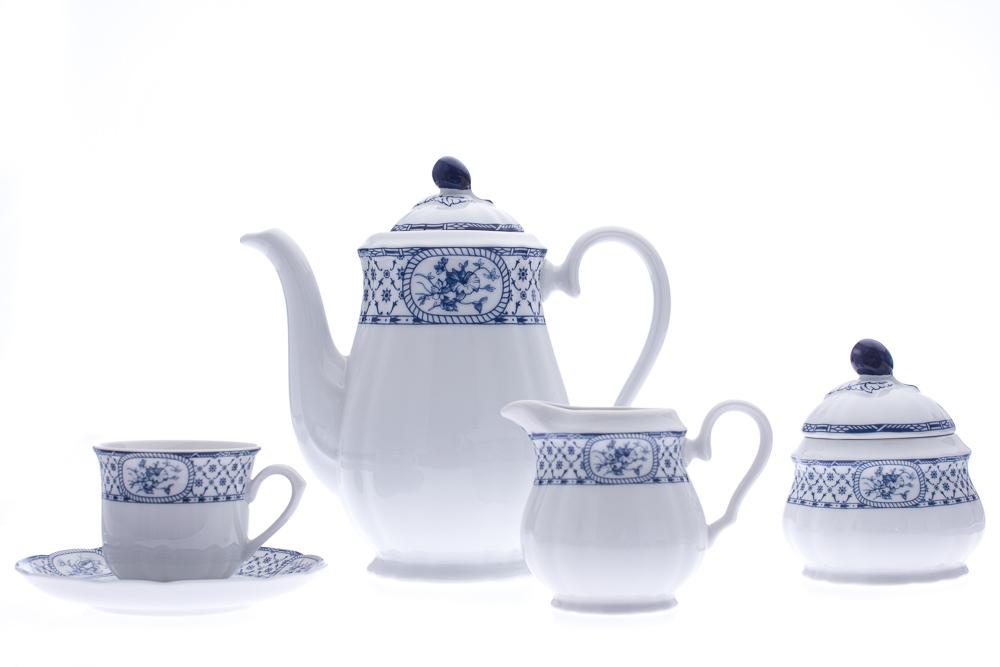 Kávová souprava Thun Rose, 15-dílná, modrá stuha, 15 dílná
