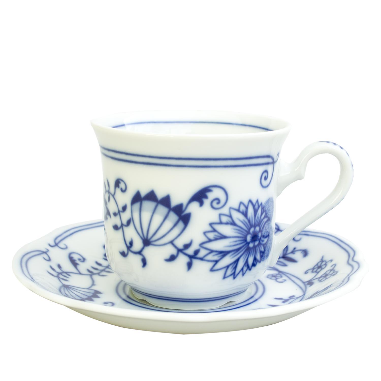 Šálek čajový, karlovarský porcelán Leander Loučky, cibulák