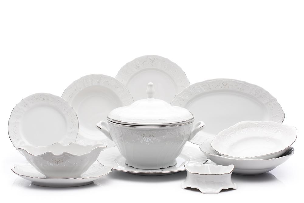 Bernadotte, jídelní souprava, mráz, porcelán Thun