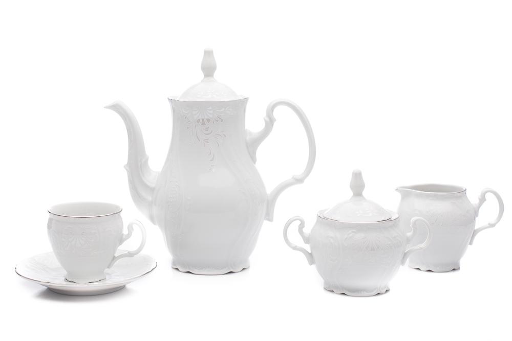 Bernadotte, kávová souprava, mráz, porcelán Thun