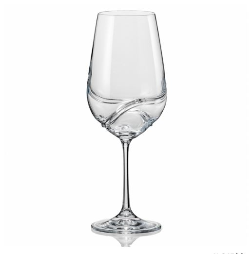 Sklenice na červené víno Crystalex Turbulence 550 ml, 2 ks