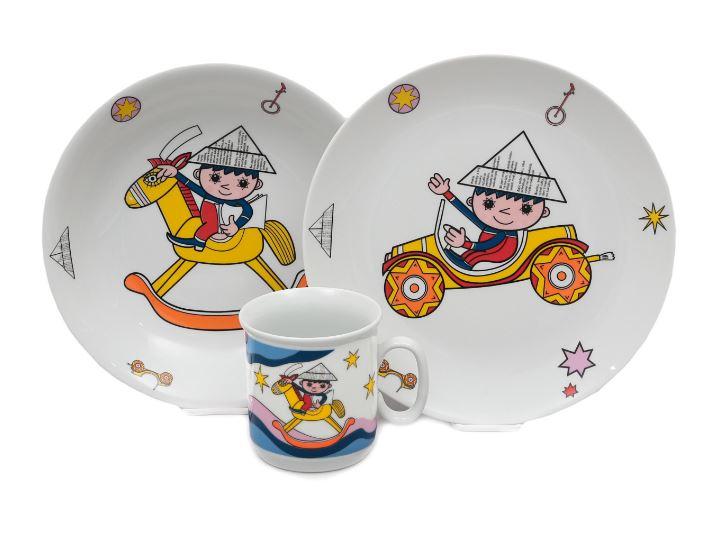 Večerníček, dětská porcelánová souprava (modrá), Thun
