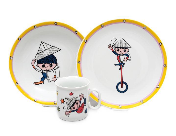 Večerníček, dětská porcelánová souprava (hvězdičky), Thun