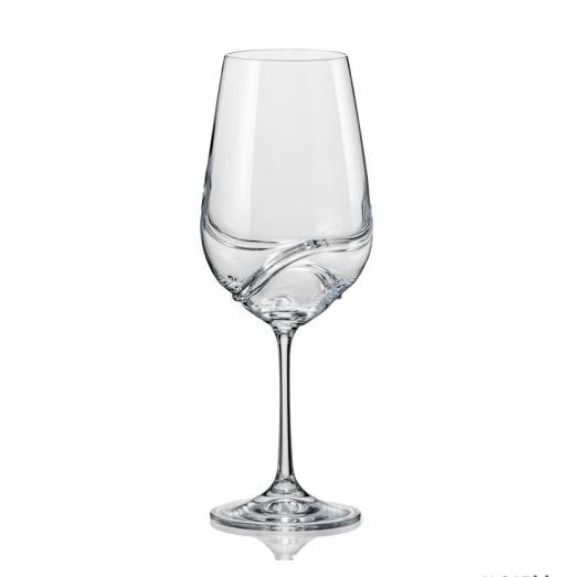 Sklenice na červené víno Crystalex Turbulence 350 ml, 2 ks