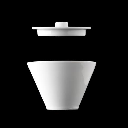 Cukřenka 10 ml, bílý porcelán, Pureline, Lilien
