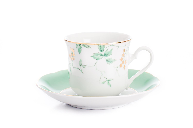 Český porcelán Leander Loučky, čajový šálek Mary-Anne, rybíz