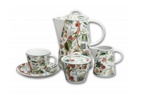 Moderní český porcelán, kávová souprava, Thun, Tom, zahrada, 15 dílná