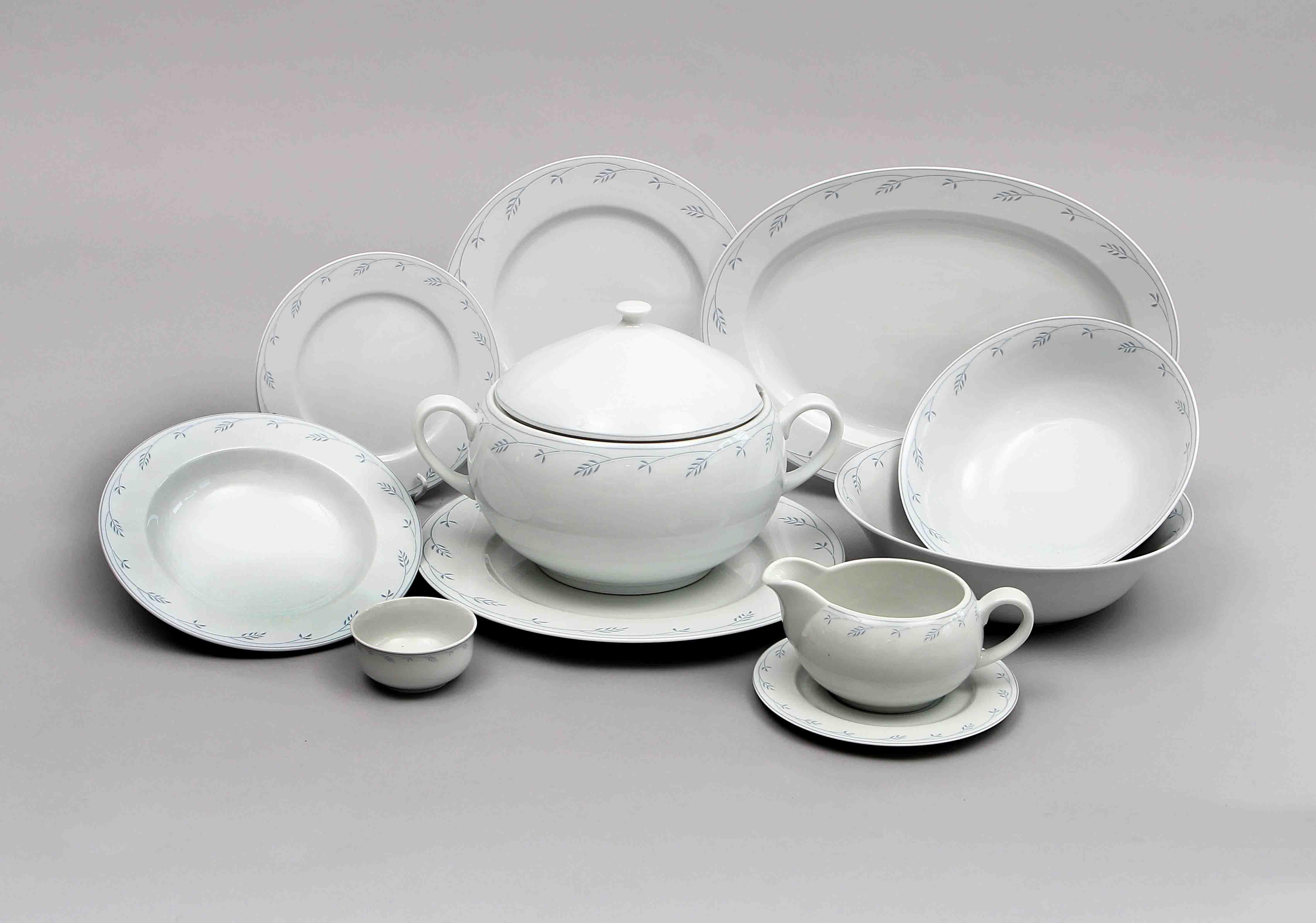 Jídelní souprava Thun, karlovarský porcelán, Opal klásky, 25 dílná
