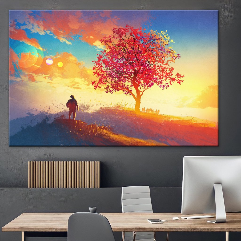 Obraz na stěnu Sakura Sunset