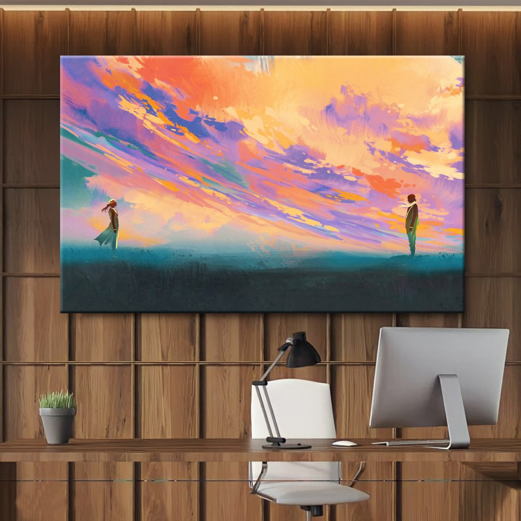 Obraz na stěnu Sunset meeting