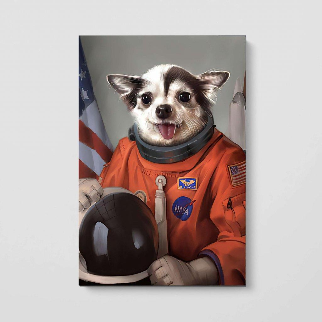 portrety domacich mazlicku Kosmonaut