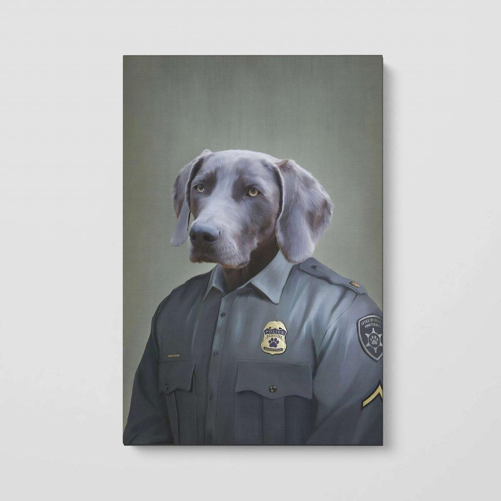 portrety domacich mazlicku policajt