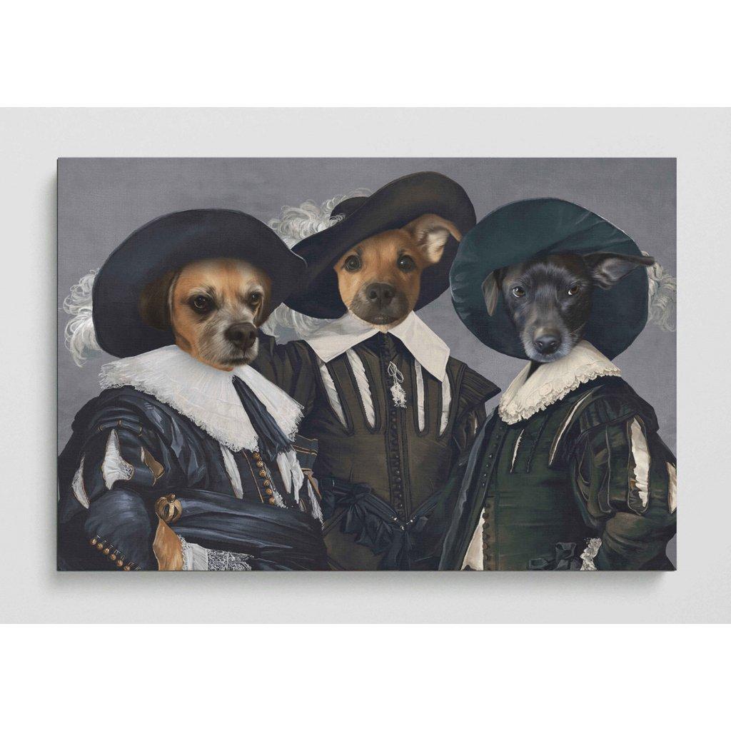 Portret domacich mazlicky Tři mušketýři