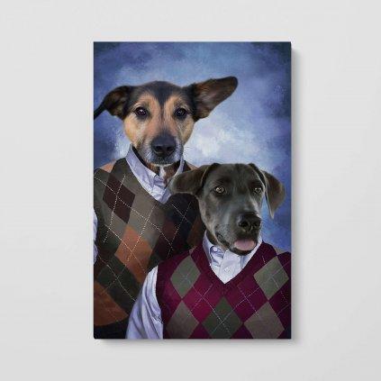 portrét domácích mazlíčků rodina