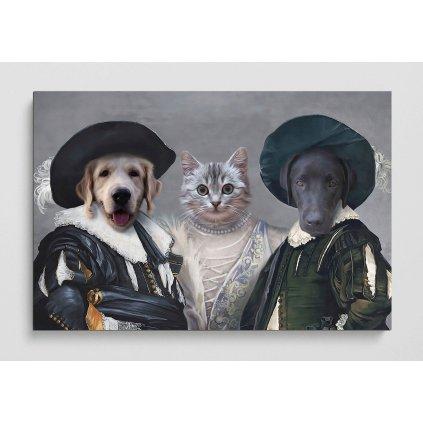 Portret domacich mazlicku Tři mušketýři
