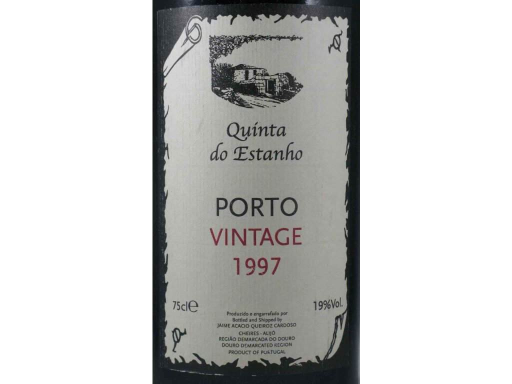 quinta do Estanho PortoVintage1997 label