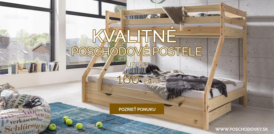 Kvalitné poschodové postele už od 155 Eur