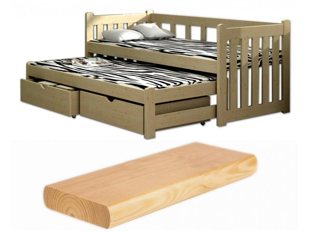 d832231bbf01 Detská posteľ s výsuvným lôžkom Veronika 2 200x90