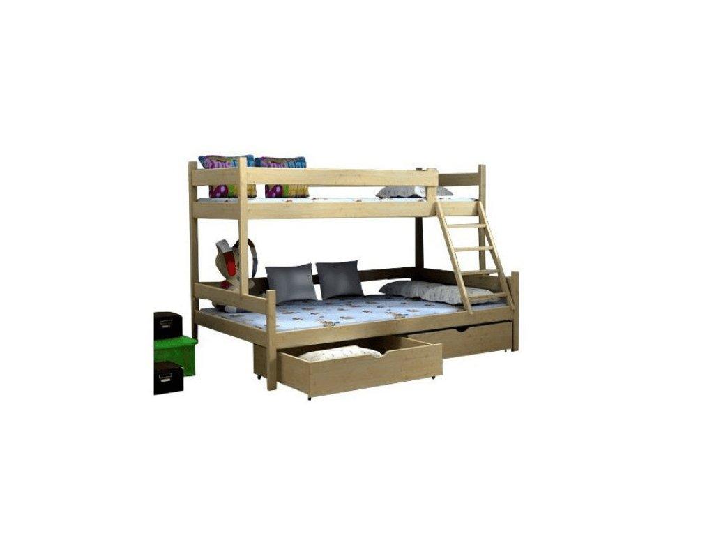 Rozšírená poschodová posteľ Petra 6 200x120