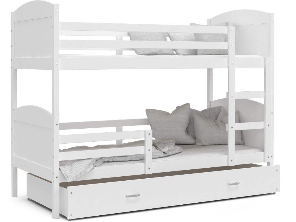 Mates biela poschodová posteľ Color - biela