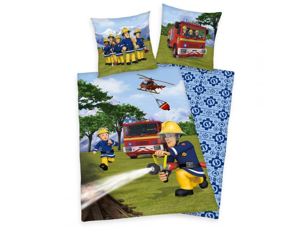 Detské bavlnené obliečky 140x200+70x90 - Fireman Sam