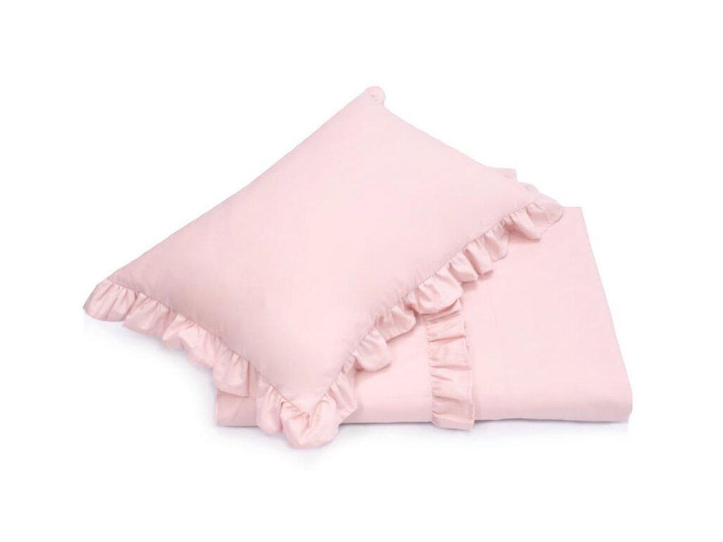 Bavlnené obliečky Royal (140x200+70x80) - ružová